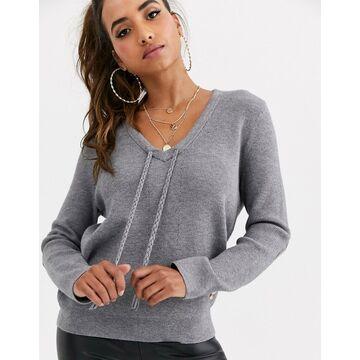 G-Star v-neck sweater-Gray