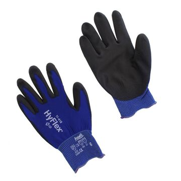 Ansell 11-618-6 HyFlex Nylon Multi-Purpose Gloves, Size 6, Blue, 12 Pairs