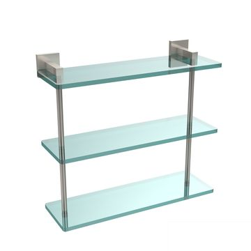 Allied Brass Montero Collection 16-inch Triple Tiered Glass Shelf