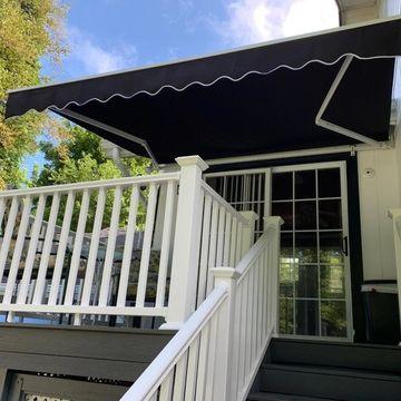 ALEKO Retractable 10 x 8 feet Home Patio Canopy Awning Black Color (Black)