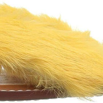Bernardo Womens Miami fur Fur Open Toe Casual, Butterscotch, Size 8.0