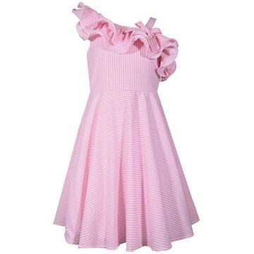Girls 7-16 Bonnie Jean Asymmetrical Ruffle Seersucker Dress