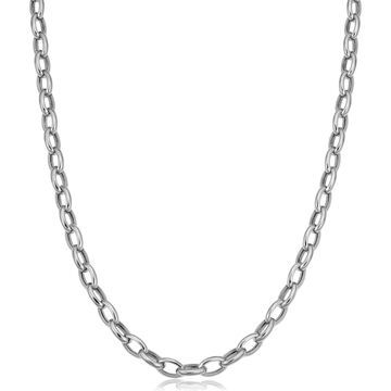 Fremada 14k White Gold 4.6-mm Rolo Necklace (16 inch)