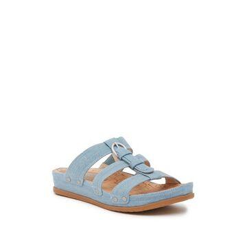 Bare Traps Womens Cella Fabric Open Toe Casual Slide Sandals