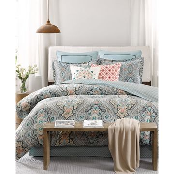 Sterling Floral-Damask Full/Queen Reversible Duvet Set