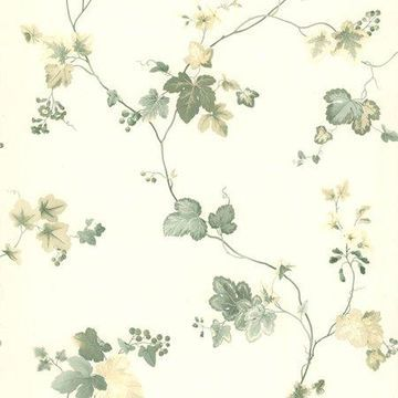 Brewster Ivy Green Ivy Wallpaper
