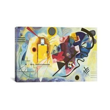 """iCanvas Gelb - Rot - Blau Yellow-Red-Blue, 1925 by Wassily Kandinsky Wrapped Canvas Print - 26"""" x 40"""""""