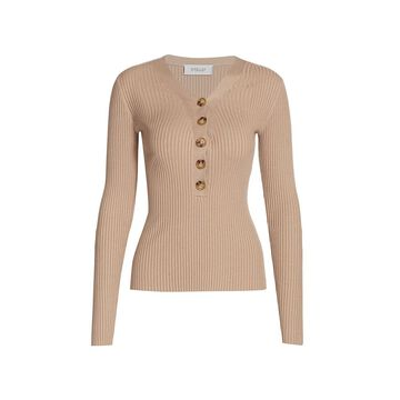 Derek Lam 10 Crosby Quincy V-Neck Silk-Cashmere Blend Sweater