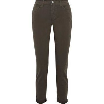 L'agence Rachel Cropped Mid-rise Straight-leg Jeans