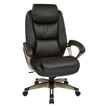 Office Star Executive Eco Leather Chair in Espresso