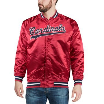 Mitchell & Ness St. Louis Cardinals Red Satin Full-Snap Jacket
