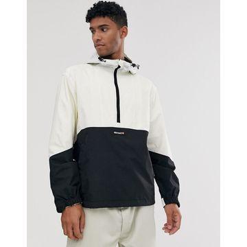 Element Primo Pop overhead windbreaker jacket in white/black