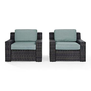 Crosley Beaufort 2 -Piece Outdoor Wicker Seating Set-Color:Brown,Style:2-Outdoor Wicker Chairs