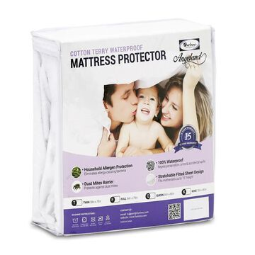 Furinno Angeland Waterproof Terry Cloth Mattress Protector