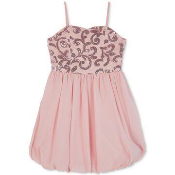 Big Girls Sequin Lace Bubble Dress