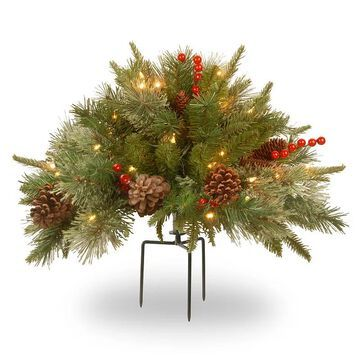 National Tree Company 18-in. Pre-Lit Artificial Pine Filler Decor, Green