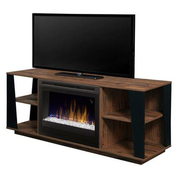 Dimplex Arlo Media Console Fireplace With Glass Ember Bed