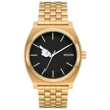 Nixon Mens Time Teller Disney Collection Gold/Black/Mickey Hand