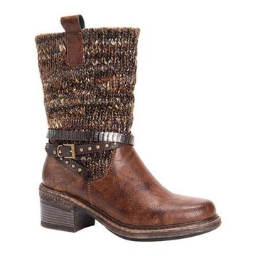 MUK LUKS Women's Kim Winter Boot Brown Polyurethane