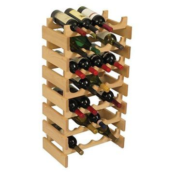 Wooden Mallet 28 Bottle Dakota Wine Rack Unfinished