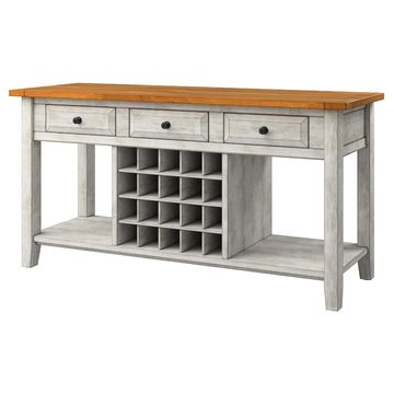 South Hill Sideboard Buffet With Wine Rack - Antique - Inspire Q