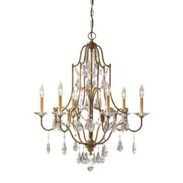 Feiss Valentina Collection Oxidized 6-Light Chandelier