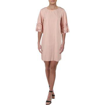 See by Chloe Womens Party Dress Ruffled Eyelet Sleeves - 42