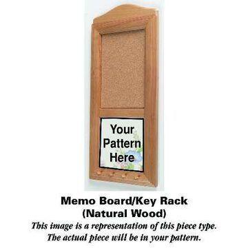 Mason's Paynsley Pink Natural Wood Memo Board/Key Rack HC