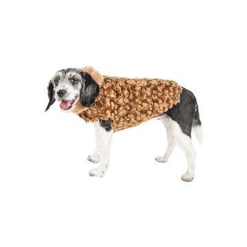 Pet Life Luxe 'Furpaw' Shaggy Elegant Designer Dog Coat Jacket