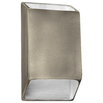 Justice Design Group Ambiance Tapered Rectangle Open Top and Bottom LED Wall Sconce - Color: White - Size: Large - CER-5875-VAN