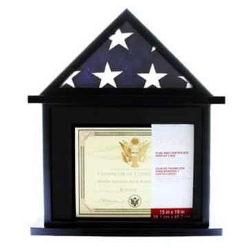 Flag & Certificate Display Case by Studio Decor