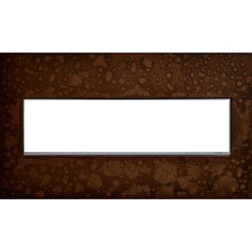 Legrand adorne 4-Gang Hubbardton Forge Bronze Square Screwless Specialty Wall Plate | AWM4GHFBR1