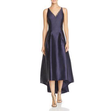 Carmen Marc Valvo Womens Mikado Sleeveless Hi-Low Formal Dress