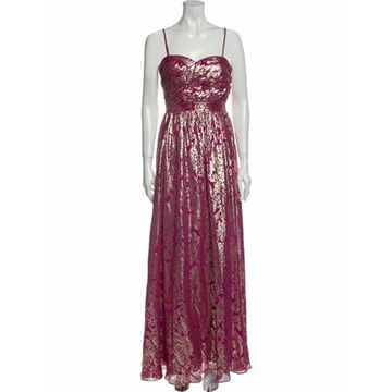 Silk Long Dress Pink