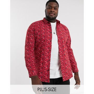 Only & Sons Holidays print shirt in red