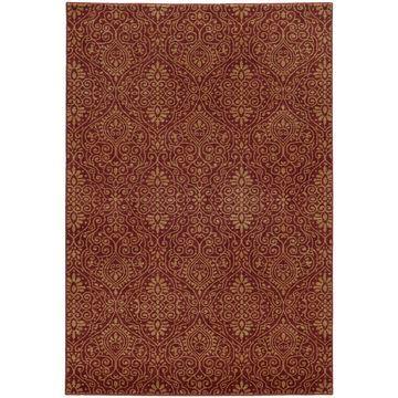 Style Haven Persian Gardens Red Indoor/Outdoor Area Rug (3'10 x 5'5) - 3'10
