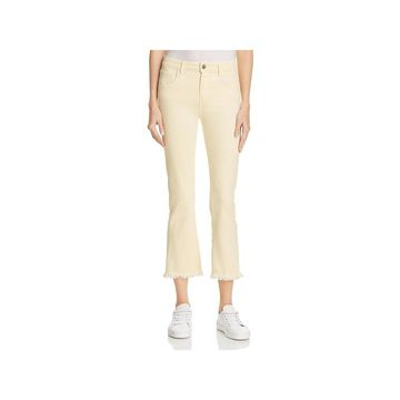 Paige Womens Colette Flare Jeans Unhemmed Colored