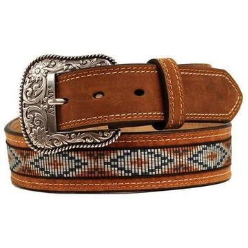Ariat Western Belt Mens Leather Conchos Inlay A1018248