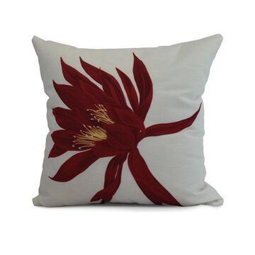 Simply Daisy, 26 x 26 Inch, Hojaver, Floral Print Pillow, Red
