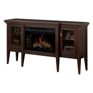 Dimplex Upton Mantel Electric Log Fireplace Cabinet