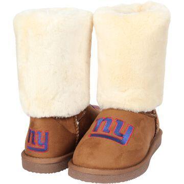 Women's Cuce Tan New York Giants Fan Boot