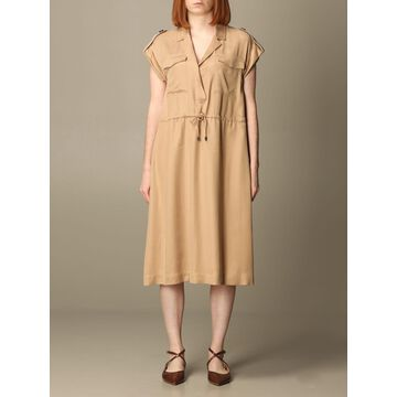 Peserico dress in viscose blend with drawstring