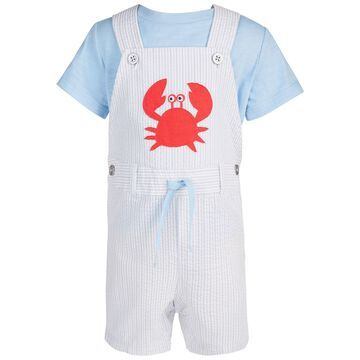 Baby Boy's Crab Shortall Set, Created for Macy's