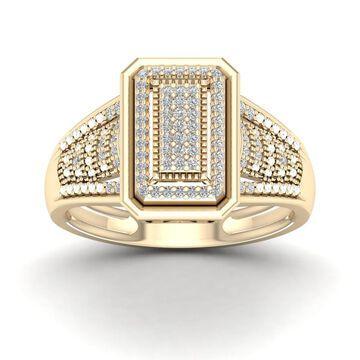De Couer IGI Certified 1/5ct TDW Diamond Cluster Ring - Yellow