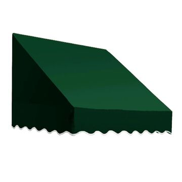 Awntech San Francisco 40.5-in Wide x 36-in Projection Forest Solid Fixed Window/Door Awning in Green | EF1836-L-3F