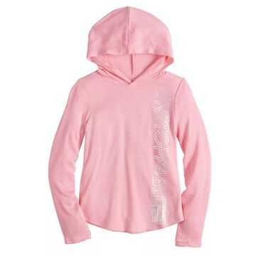 Girls 4-12 Jumping Beans Active Hoodie Cozy Knit Top