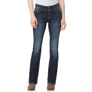 WallFlower Juniors' Insta-Stretch Luscious Curvy Mid-Rise Bootcut Jeans