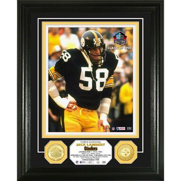 Highland Mint Jack Lambert Pittsburgh Steelers Hall of Fame Induction Photomint