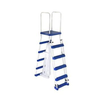 Blue Wave 52 in A Frame Ladder with Safety Barrier and Removable Steps for Above Ground Pools