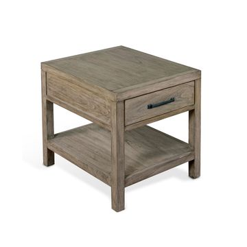 Glasgow Cadet Gray End Table